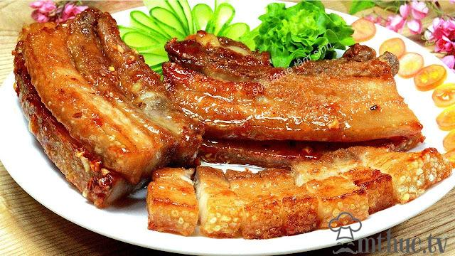 cach lam thit heo chien nuoc mam